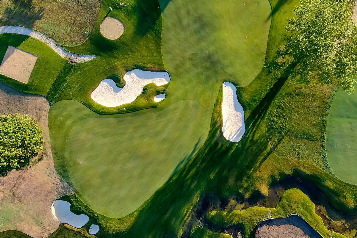 Club at Lac La Belle golf course overhead