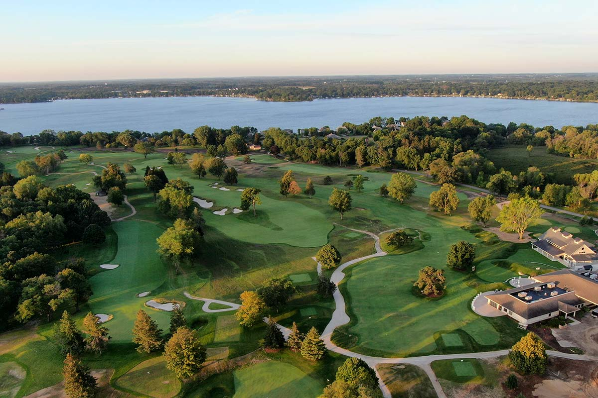 Club at Lac La Belle golf course lake in background